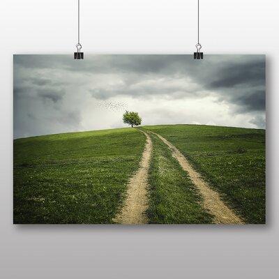 Big Box Art Lone Tree No.1 Photographic Print Wrapped on Canvas