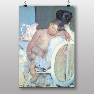 Big Box Art Woman with Child in her Arms by Mary Cassatt Art Print