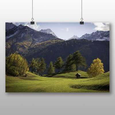 Big Box Art Meadow and Mountain Photographic Print Wrapped on Canvas