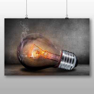 Big Box Art Light Bulb Abstract No.2 Graphic Art Wrapped on Canvas