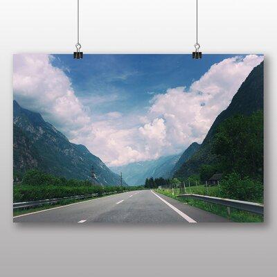 Big Box Art Mountain Road Photographic Print on Canvas