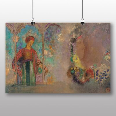 Big Box Art 'Woman in a Gothic Arcade' by Odilon Redon Art Print
