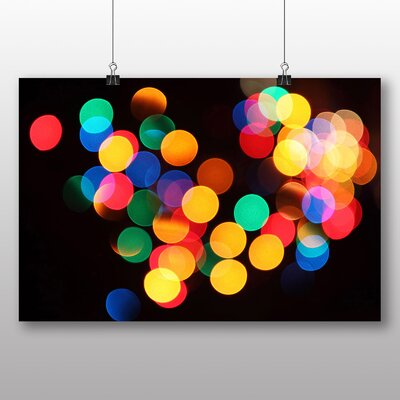 Big Box Art Blurred Fairy Lights Abstract No.4 Graphic Art on Canvas