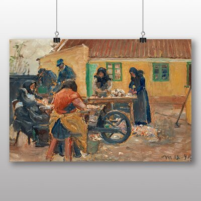 Big Box Art Women Cleaning Fishes' by Michael Ancher Art Print