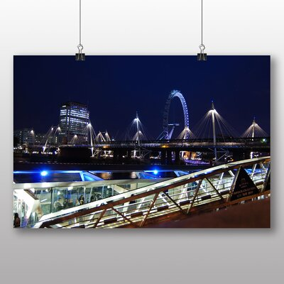 Big Box Art London Eye at Night Photographic Print