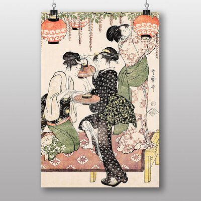 "Big Box Art ""Vintage Japanese Oriental No.15"" by Kitagawa Utamaro Art Print"