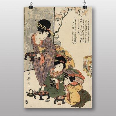"Big Box Art ""Vintage Japanese Oriental Art No.5"" by Kitagawa Utamaro Art Print"