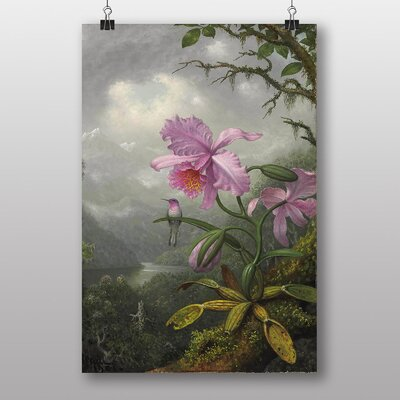 "Big Box Art ""Hummingbird and Orchid"" by Martin Johnson Heade Art Print"