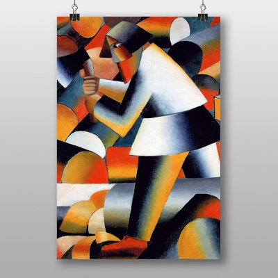 Big Box Art The Woodcutter by Kazimir Malevich Art Print