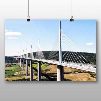 Big Box Art Millau Bridge France No.2 Photographic Print on Canvas