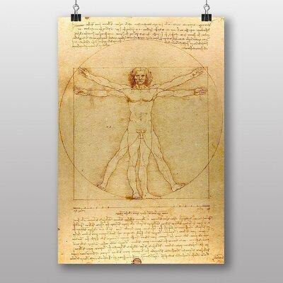 Big Box Art Leonardo Da Vinci the Vitruvian Man Graphic Art
