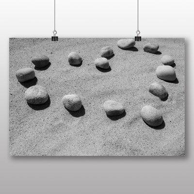 Big Box Art Pebbles Beach Heart of Love No.1 Photographic Print