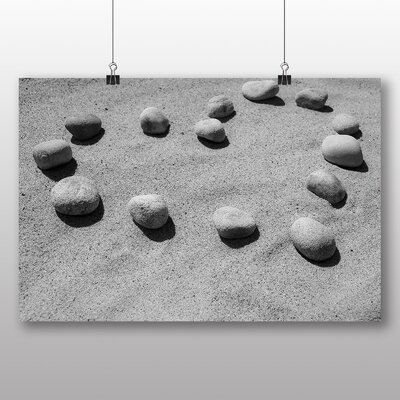 Big Box Art Pebbles Beach Heart of Love No.1 Photographic Print on Canvas