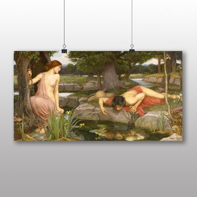 Big Box Art 'Echo and Narcissus' by John William Waterhouse Art Print