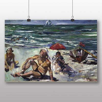 Big Box Art The Beaches of Forte del Marmi' by Lovis Corinth Art Print