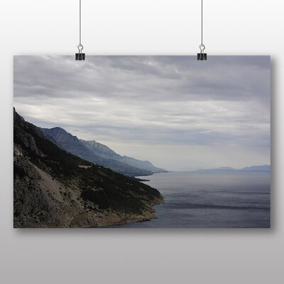 Big Box Art Lake and Mountains Photographic Print Wrapped on Canvas