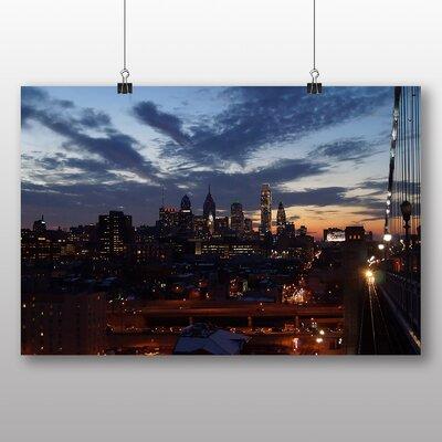 Big Box Art Philadelphia Pennsylvania Skyline USA No.2 Photographic Print Wrapped on Canvas
