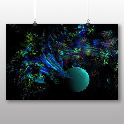 Big Box Art Mixed Colour Fractal Abstract No.21 Graphic Art Wrapped on Canvas