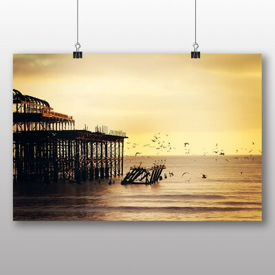 Big Box Art Pier Jetty Sea No.4 Photographic Print Wrapped on Canvas