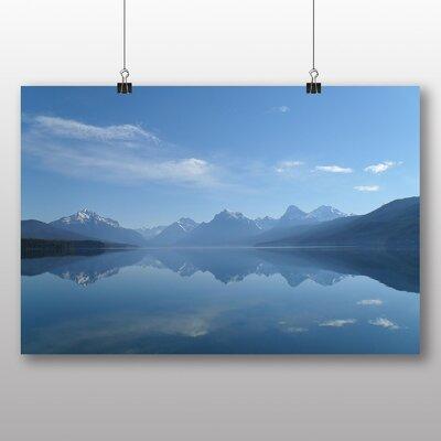 Big Box Art Montana Lake USA Photographic Print on Canvas