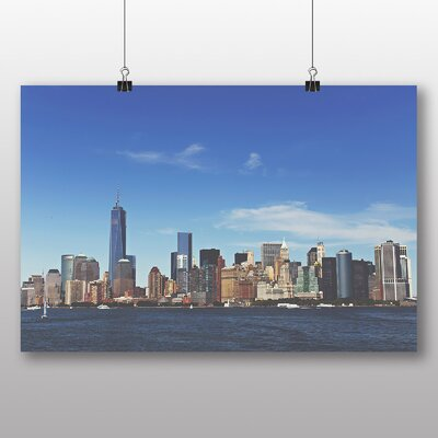 Big Box Art 'Manhattan New York with Blue Sky' Photographic Print