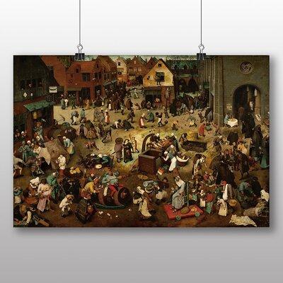 Big Box Art 'The Fight Between Carnival and Lent' by Pieter Bruegel the Elder Art Print