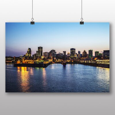 Big Box Art Montreal Canada Skyline No.2 Photographic Print Wrapped on Canvas