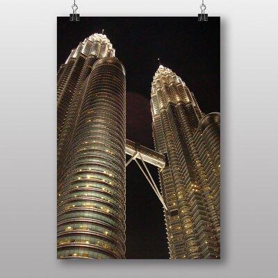 Big Box Art Kuala Lumpur Malaysia Petronas Towers No.1 Photographic Print on Canvas