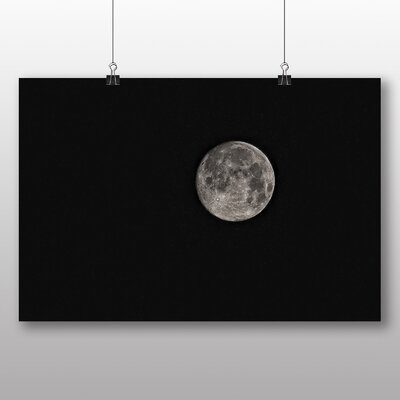 Big Box Art Moon from Space Photographic Print Wrapped on Canvas