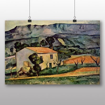 Big Box Art 'Landscape and Houses No.3' by Paul Cezanne Art Print