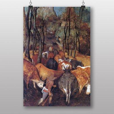 "Big Box Art ""The Re Entry of the Heards"" by Pieter Bruegel the Elder Art Print"