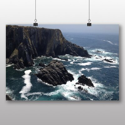 Big Box Art 'Ocean and Cliff Face' Photographic Print