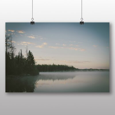 Big Box Art Lake and Forest Photographic Print Wrapped on Canvas