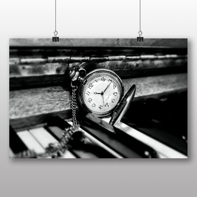 Big Box Art Piano and Pocket Watch Photographic Print Wrapped on Canvas