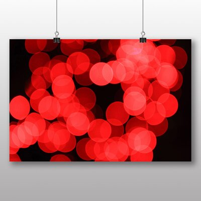 Big Box Art Blurred Fairy Lights Abstract No.6 Graphic Art on Canvas