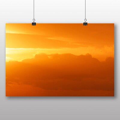 Big Box Art Orange Sky Sunset Photographic Print on Canvas