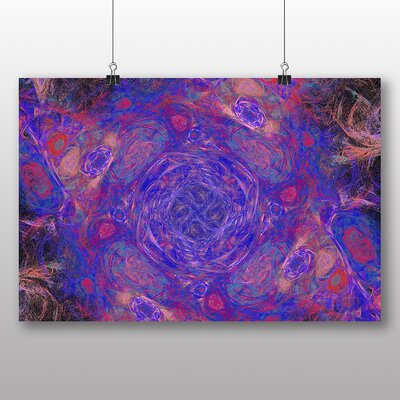 Big Box Art Pink Purple Fractal Abstract No.2 Graphic Art Wrapped on Canvas