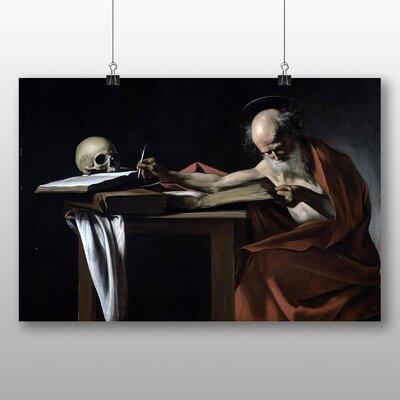 Big Box Art 'Saint Gerome Writing' by Michelangelo Caravaggio Art Print