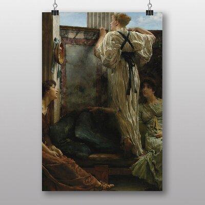 "Big Box Art ""Who is it"" by Lawrence Alma-Tadema Art Print"