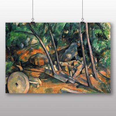 Big Box Art 'Woods with Millstone' by Paul Cezanne Art Print