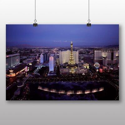 Big Box Art Las Vegas Strip Skyline Nevada USA No.2 Photographic Print on Canvas