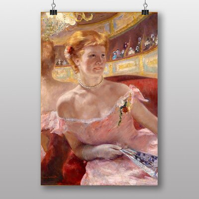 Big Box Art Woman with a Pearl Necklace by Mary Cassatt Art Print