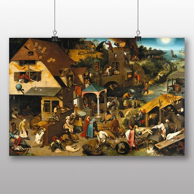 Big Box Art 'the Elder Neverlandish Proverbs' by Pieter Bruegel Art Print