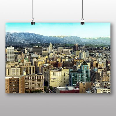 Big Box Art Los Angeles Skyline California USA No.1 Photographic Print Wrapped on Canvas
