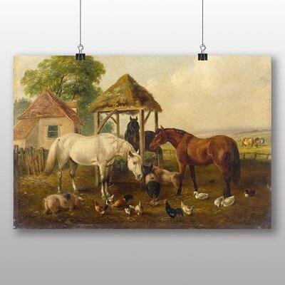 Big Box Art Horses in the Paddock' by John Frederick Herring Art Print