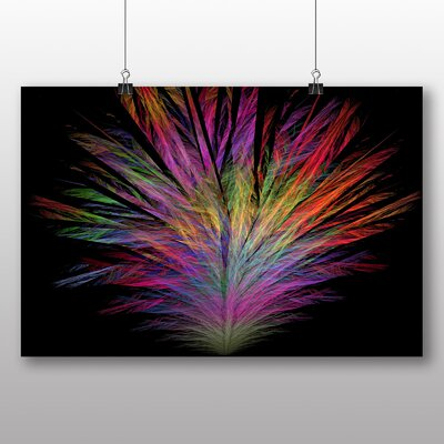 Big Box Art Mixed Colour Fractal Abstract No.5 Graphic Art Wrapped on Canvas