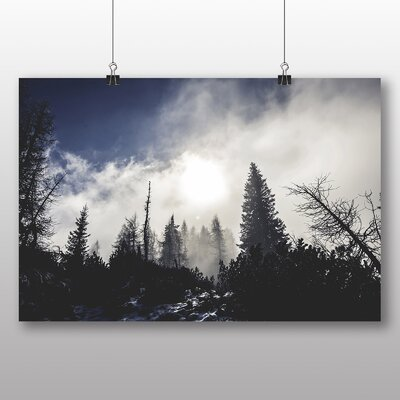 Big Box Art Misty Forest Photographic Print Wrapped on Canvas