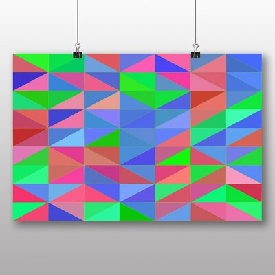 Big Box Art Coloured Abstract No.5 Graphic Art
