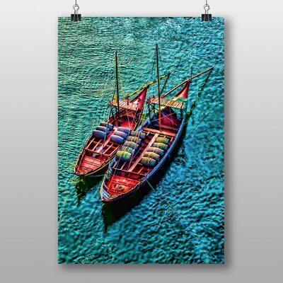 Big Box Art Portugal Boats Graphic Art on Canvas