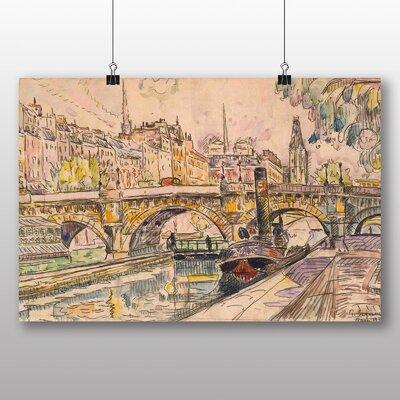 Big Box Art 'Tugboat at the Pont Neuf Paris' by Paul Signac Art Print